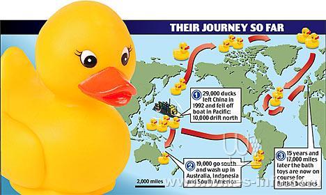 9万只黄色鸭子,蓝色乌龟,红色海狸和绿色青蛙,这些中国制造的小小浴盆