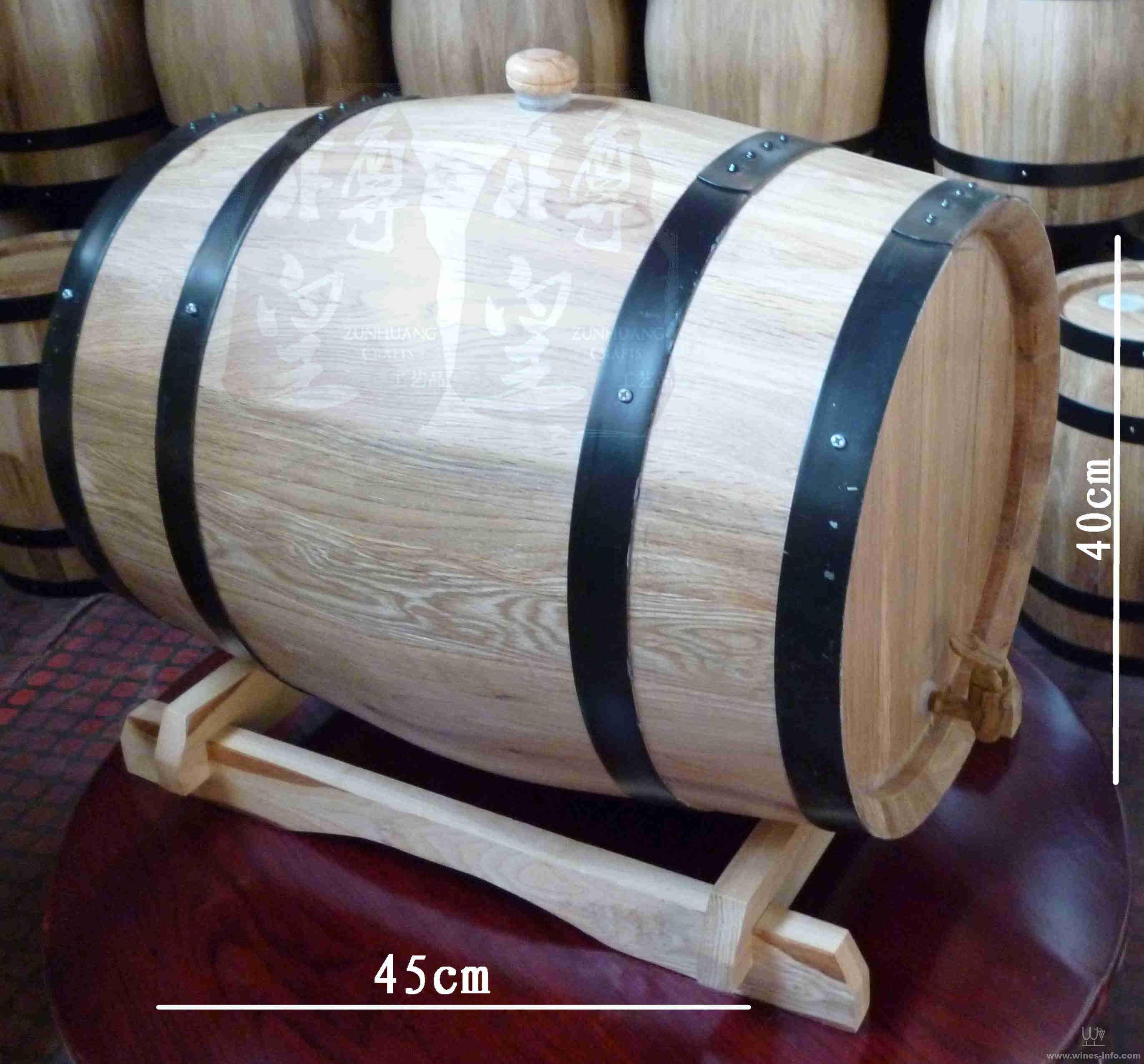 25l无内胆橡木桶自酿酒橡木桶发酵型橡木桶