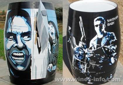 里奥哈酒庄庄主与艺术家联合 将旧橡木桶打造成艺术品