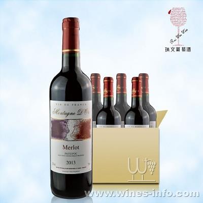 法国红酒木桐迪奥梅洛干红750ml